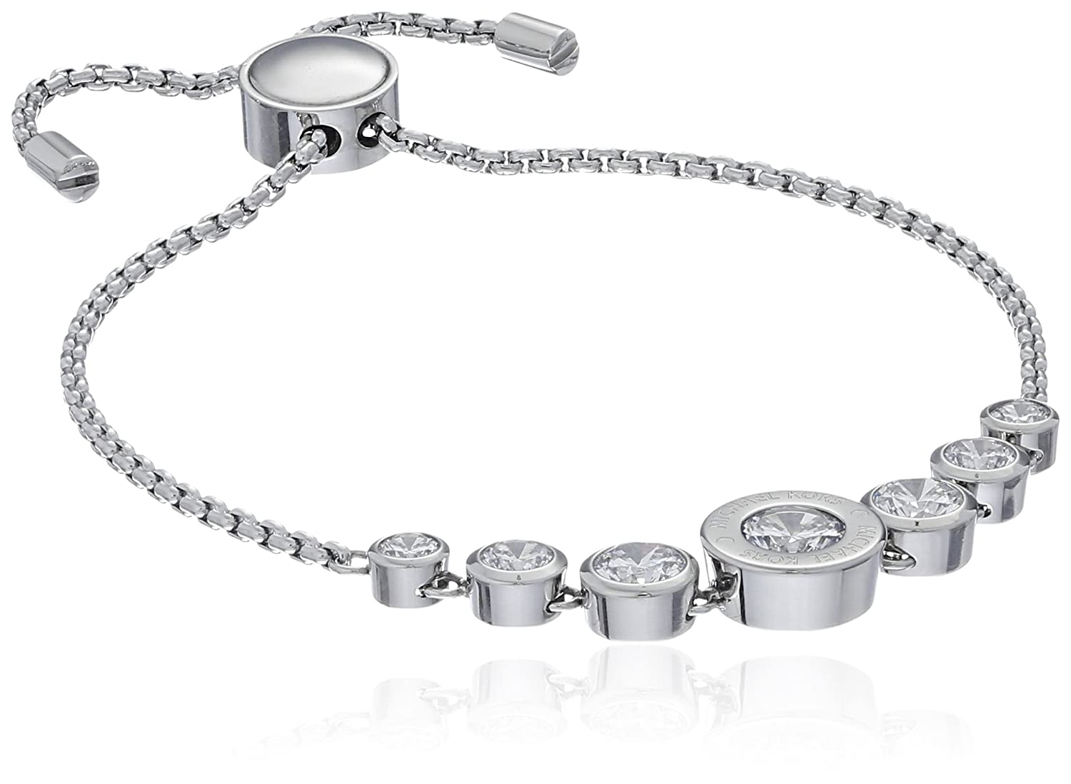 CRYSTAL INITIAL N WHITE ROPE NECKLACE AND BRACELET SET