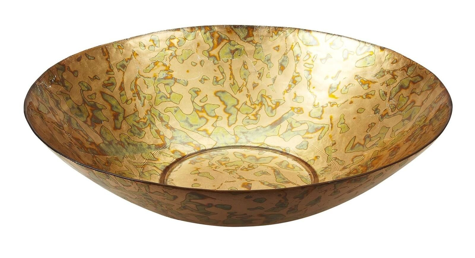 Red Pomegranate 9765 Gilded Tableware Centerpiece Bowl 16'' Gold Patina