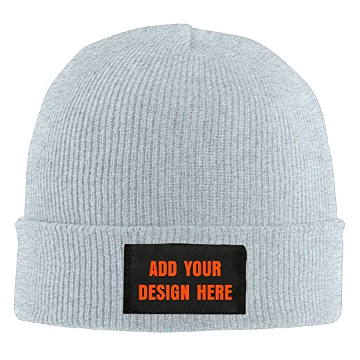 df5fd813e5adb Men s Women s Custom Printing Beanie Ski Hat Funny Collection Knit Wool Hat  sleeve cap - Ash