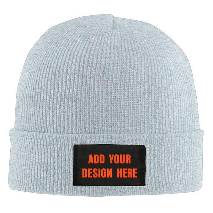 Men s Women s Custom Printing Beanie Ski Hat Funny Collection Knit Wool Hat  sleeve cap - Ash 373399588f