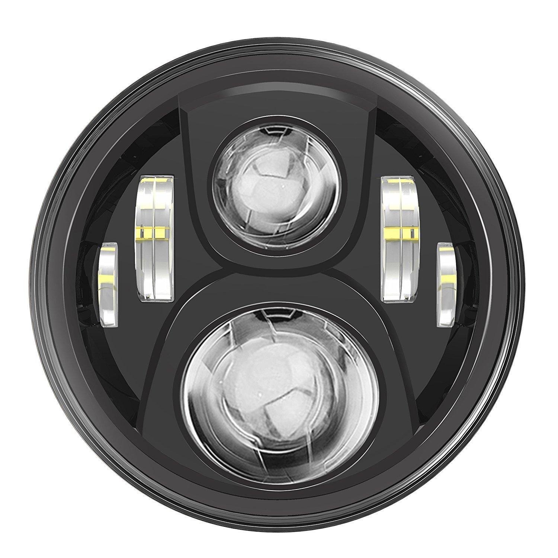 """Ampoule 7 """"LED phare pour Projecteur Harley Davidson Daymaker HID LED Headlamp Noir"""