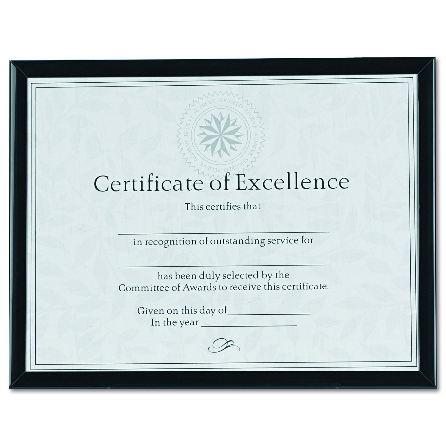 8-1//2 x 11 Inches Silver DAX N17002N Value U-Channel Document Frame with Certificates