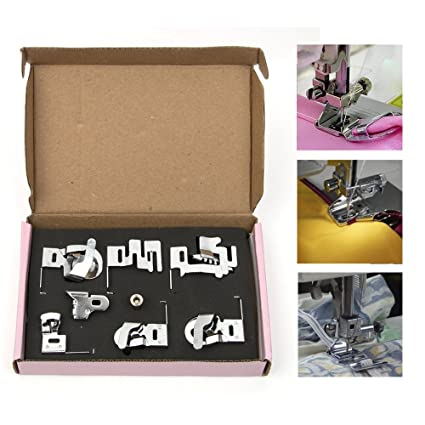6 pcs herramientas de máquina de coser pie pies prensatelas para juego de pies de coser