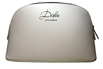 f4338c0b52 Dolce   Gabbana Dolce White Cosmetic Makeup Bag Pouch D G  Amazon.co ...