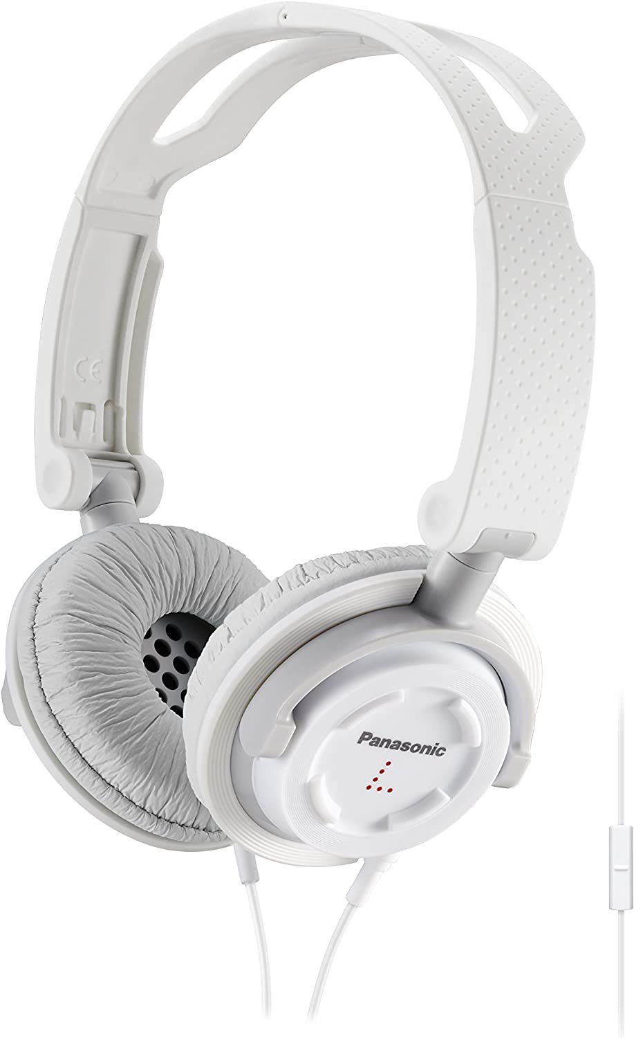 Panasonic FOLDZ On-Ear Stereo Headphones with Mic/Controller RP-DJS150M-W (White) Integrated