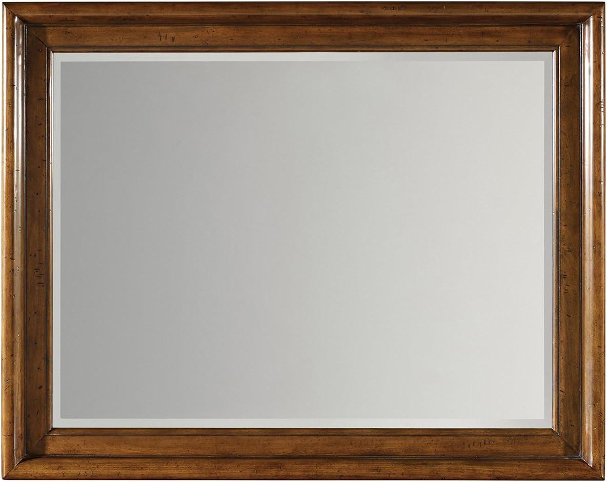 Hooker Furniture Tynecastle Landscape Mirror in Medium Wood