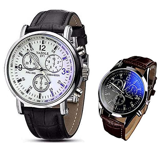 76f0afbe9498d 2PCS Wristwatch Hot Sale! Clearance! Pocciol Luxury Fashion PU Leather Mens  Watches Clock