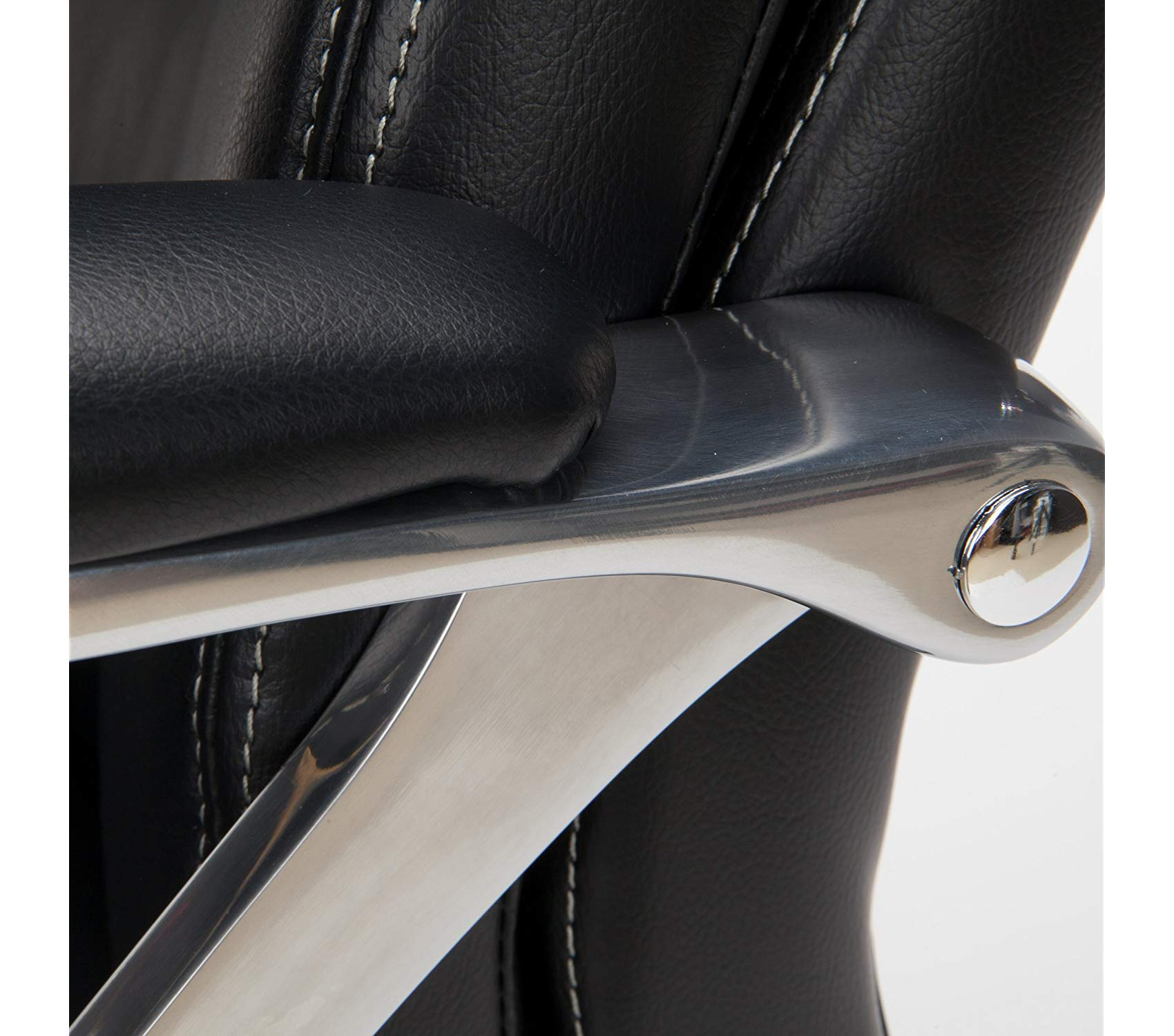 Оfm Avenger Series Big and Tall Leather Executive Chair - Black Computer Chair with Arms, Black/Chrome by Оfm (Image #7)