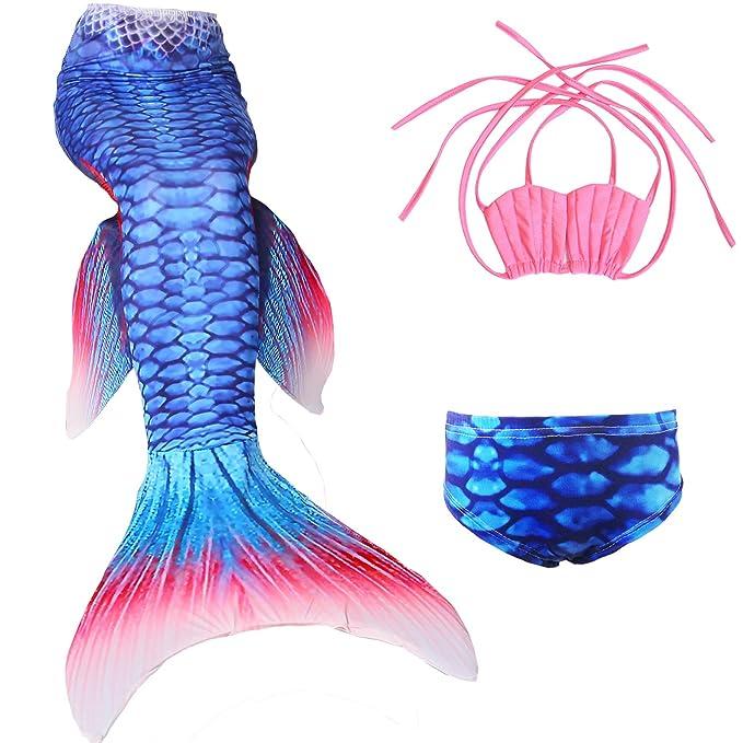 Amazon.com: Kakawayi traje de baño de cola de sirena ...
