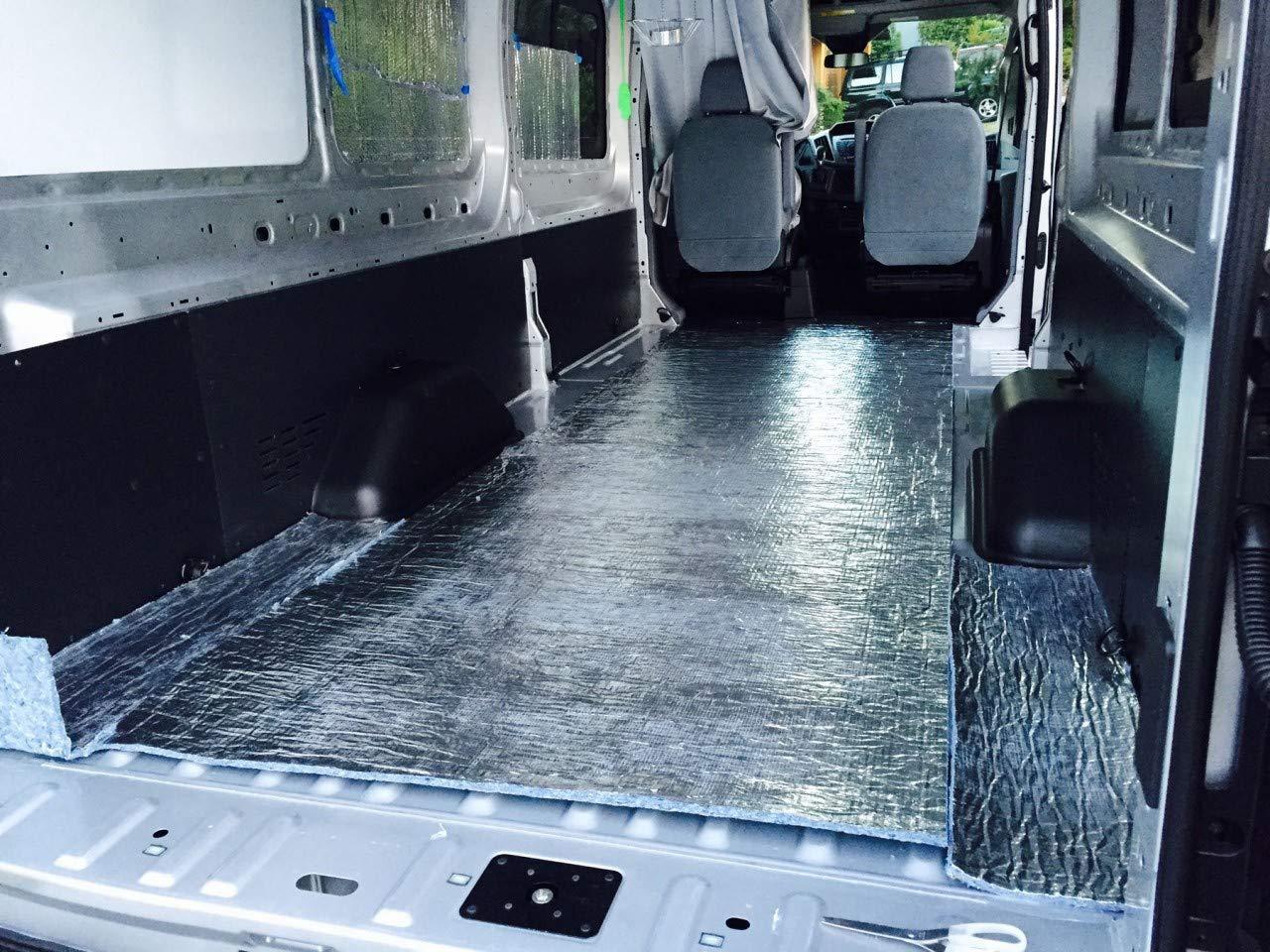 Super Shield EZ Cool Car Van Truck RV SUV Vehicle Insulation 4' x 12.5' Roll 50 Sqft Sound Noise Dampening Deadener Heat Barrier Mat Automotive Thermal Insulation (Made in USA) R Value 7