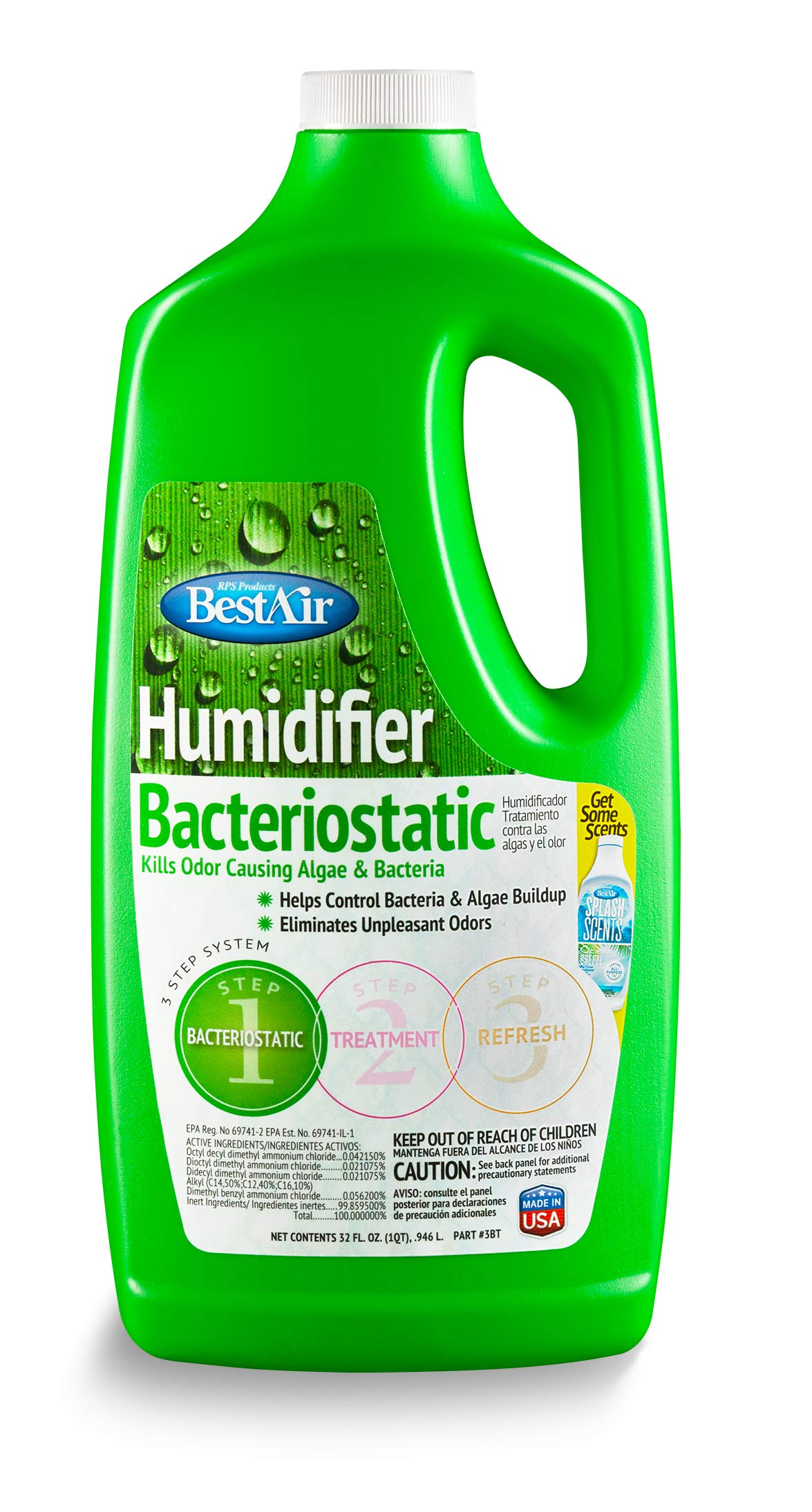 BestAir 3BT-PDQ-6 Original BT Humidifier Bacteriostatic Water Treatment, 32 fl oz, 6 Pack by BestAir