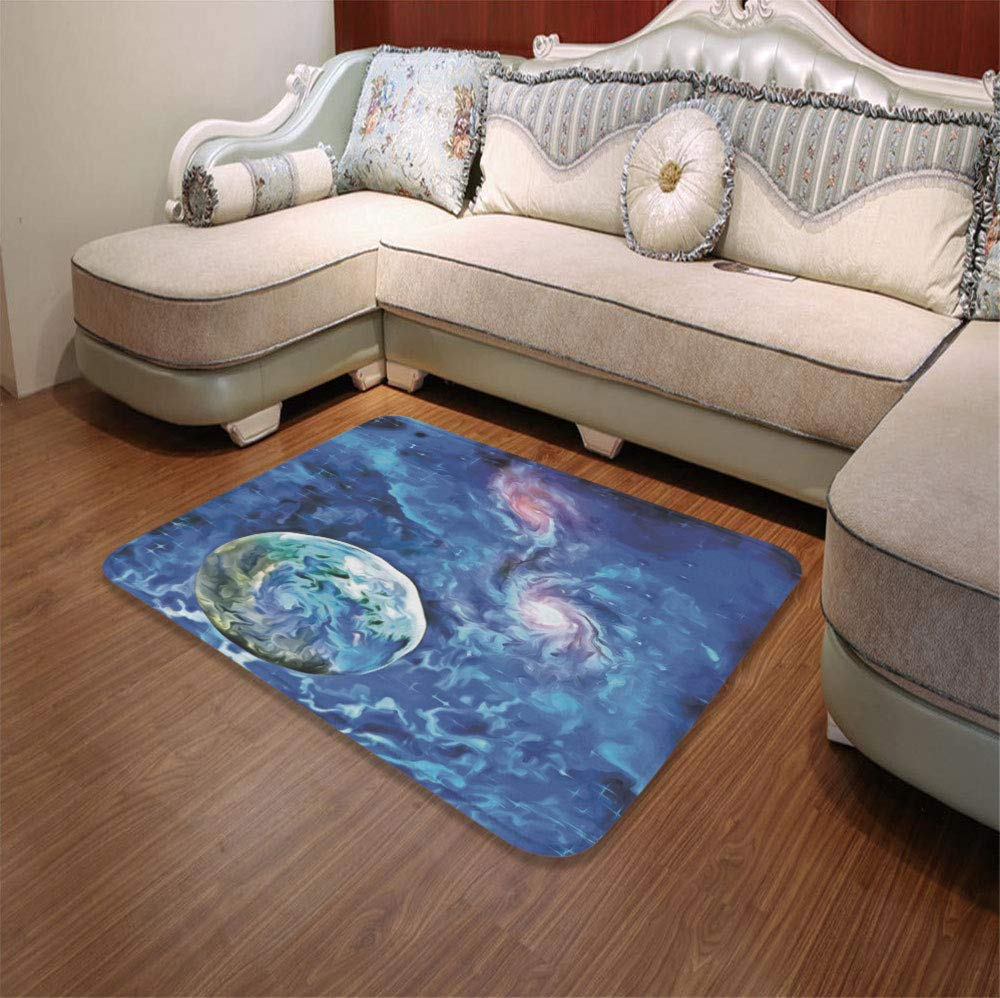 YOLIYANA Modern Carpet,Constellation,for Living Room Bathroom,55.12'' x78.74'',Exo Solar Planet Painting Style Vibrant