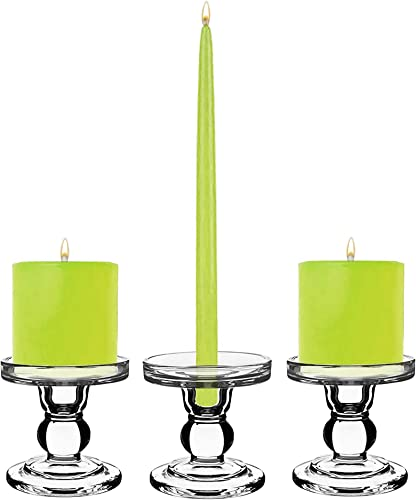 CYS EXCEL Glass Candle Holder D:3.5″ H:3.5″ Set of 3