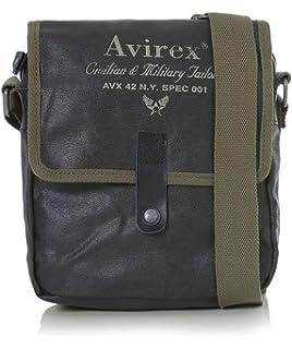 vari colori 8def0 eea76 Tracolla Uomo AVIREX Alifax Nero 05: Amazon.it: Scarpe e borse