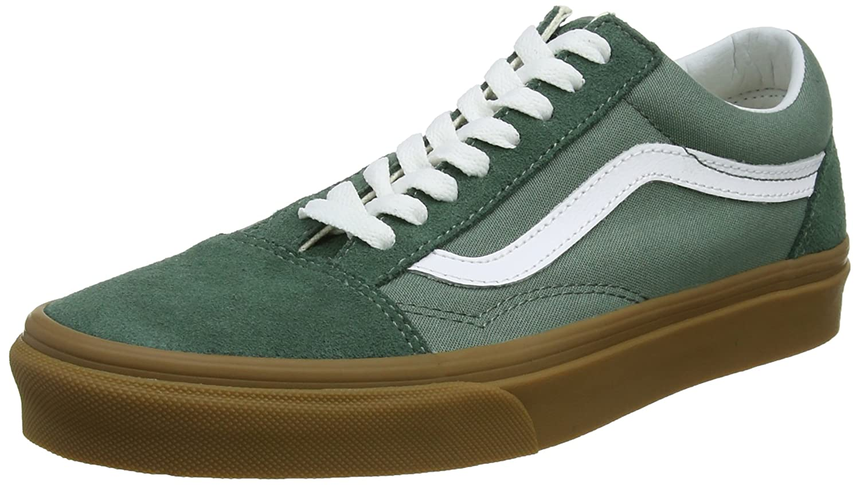 Vans Old Skool, Zapatillas Unisex Adulto 39 EU|Verde (Duck Green/Gum Q9v)