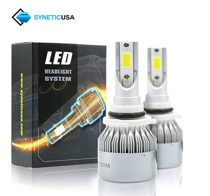 Amazon.com: Syneticusa 9005+9006 Combo LED High/Low Beam Headlight Conversion Kit Light Bulbs 200W 20000LM 6000K White: Automotive