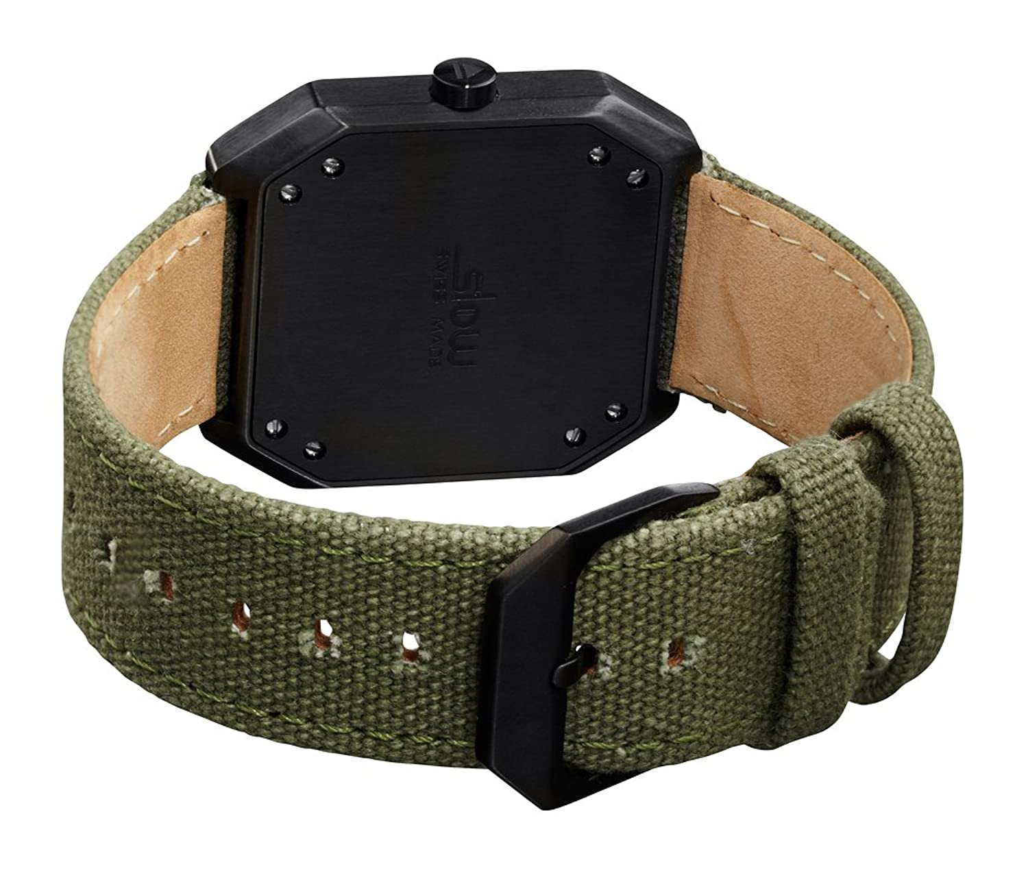 slow Jo 15 - Olive Green Canvas - Black Case - Black Dial - Swiss Made