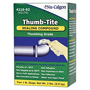 Nu-Calgon 4216-92 Thumb-Tite Sealing Compound, 2 lb. Box