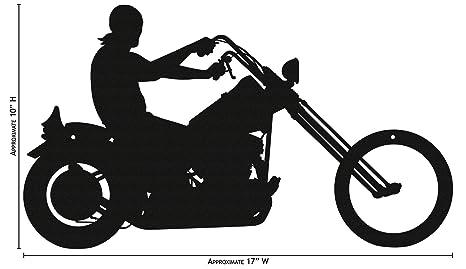 Amazon.com: Silueta simple para moto fácil de arañar ...
