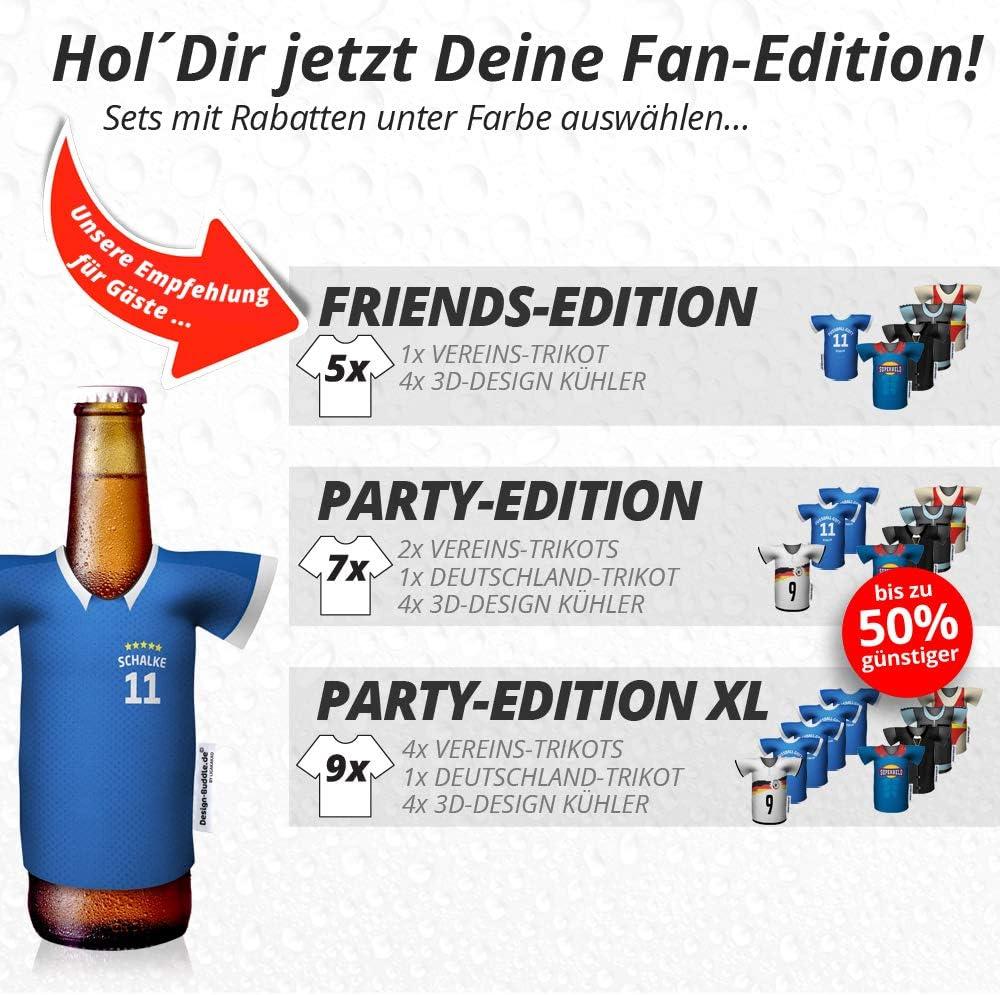 Eiskalter Biergenuss Fan-Edition f/ür Zuhause Jedes Spiel Home-Trikot Herren Bier Flaschenk/ühler /& Fanartikel by Ligakakao.de Mein Schalke Trikotk/ühler Jeden Moment Jedes Tor