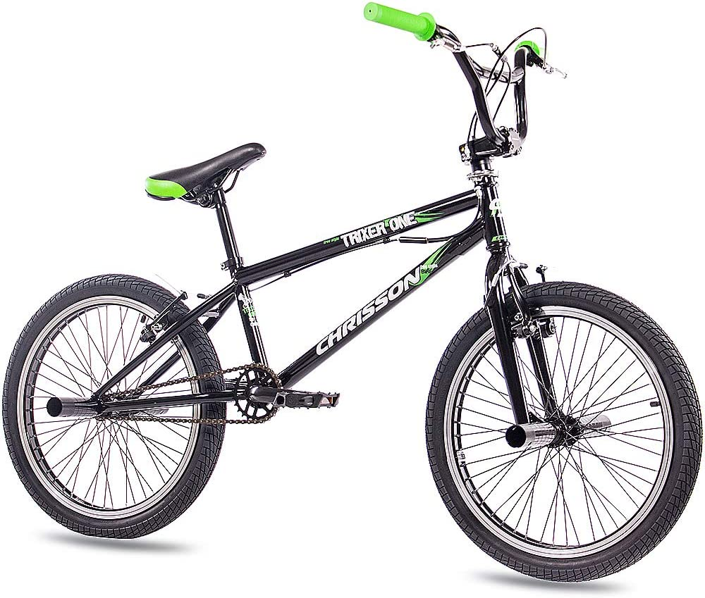 Bicicleta Chrisson de BMX Trixer One de 20 pulgadas, rotor de 360grados y 4pedales, negra