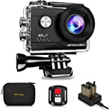 4K Action Camera 20MP Underwater Waterproof Camera 40M 170°Wide-Angle WiFi Sports Camera with 2.4G Remote Control 2…