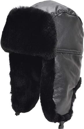 Russian ushanka winter hat Trapper Bomber Ear Flap Padded Warm! White Faux fur