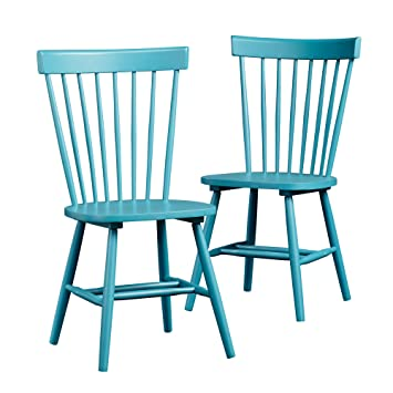 Great Amazon.com   Sauder Cottage Road Slat Back Blue Chair (Set Of 2)   Chairs