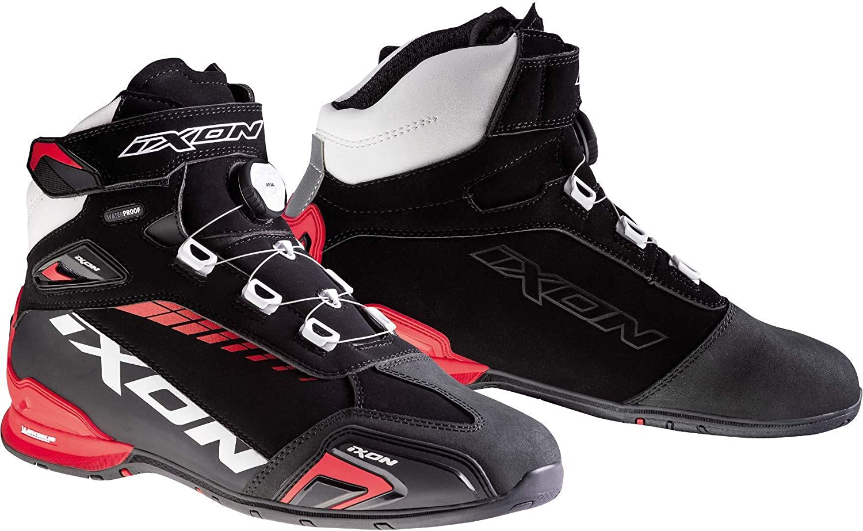 IXON Bull WP Noir//Blanc//Rouge 45 Bottes Moto Ixon