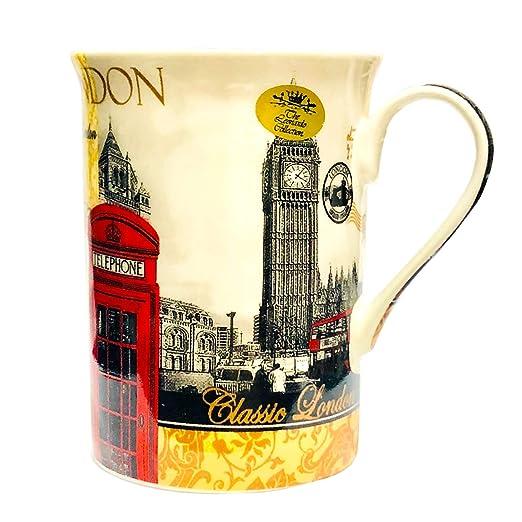 Taza de porcelana, diseño de Londres, en caja regalo ...