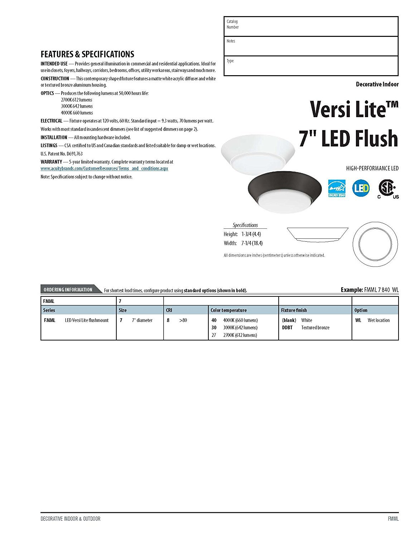 Lithonia Lighting FMML 7 840 WL  7-Inch 4000K LED