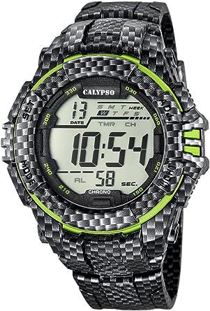 Calypso Hombre Reloj Digital con Pantalla LCD Pantalla Digital Dial y Correa de plástico Multicolor K5681/6