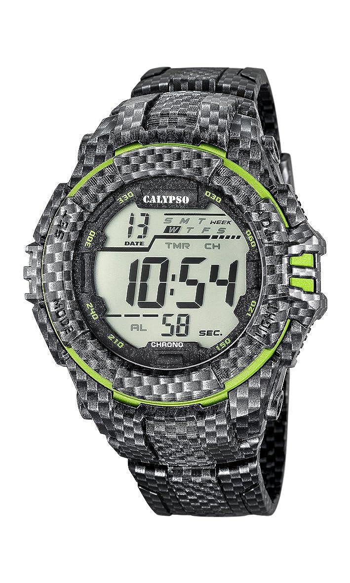 Calypso Hombre Reloj Digital con Pantalla LCD Pantalla Digital Dial y Correa de plástico K5681/6