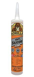 3.Gorilla Clear Mold & Mildew Resistant Caulk