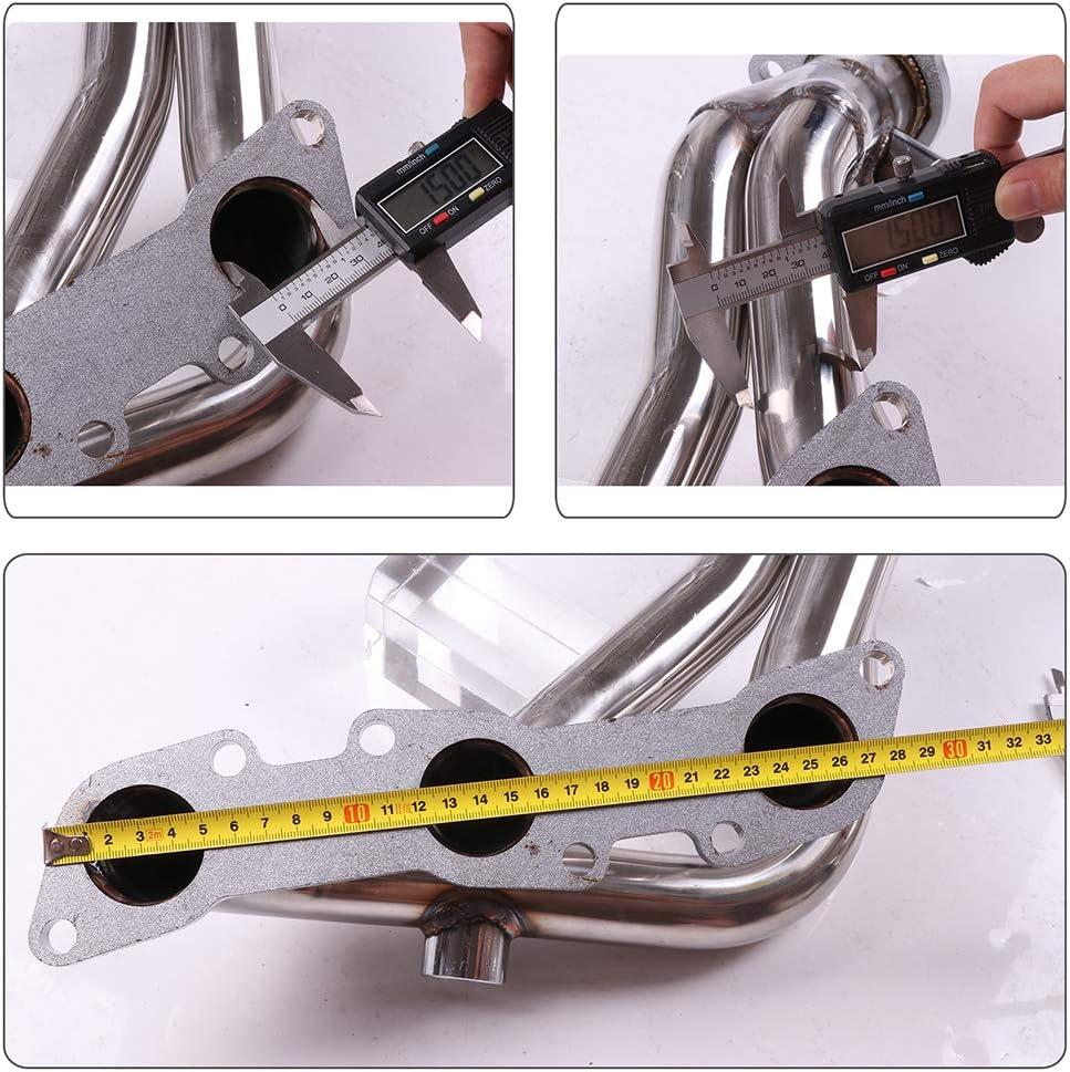 cciyu Stainless Steel Exhaust Manifold Kit Fits 99-04 Nissan Frontier 98-00 Nissan Pathfinder 00-04 Nissan Xterra