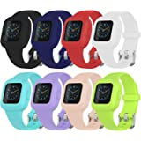 8Pack Bands Replacement Compatible with Garmin vivofit jr3,Adjustable Replacement Wristbands with Watch Buckle for Kids Women