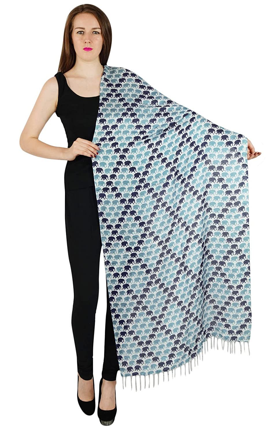 "Viscose Stole Rectangle Animal Fashion Wrap Soft Summer Indian Women Shawl 80"" x 27"""