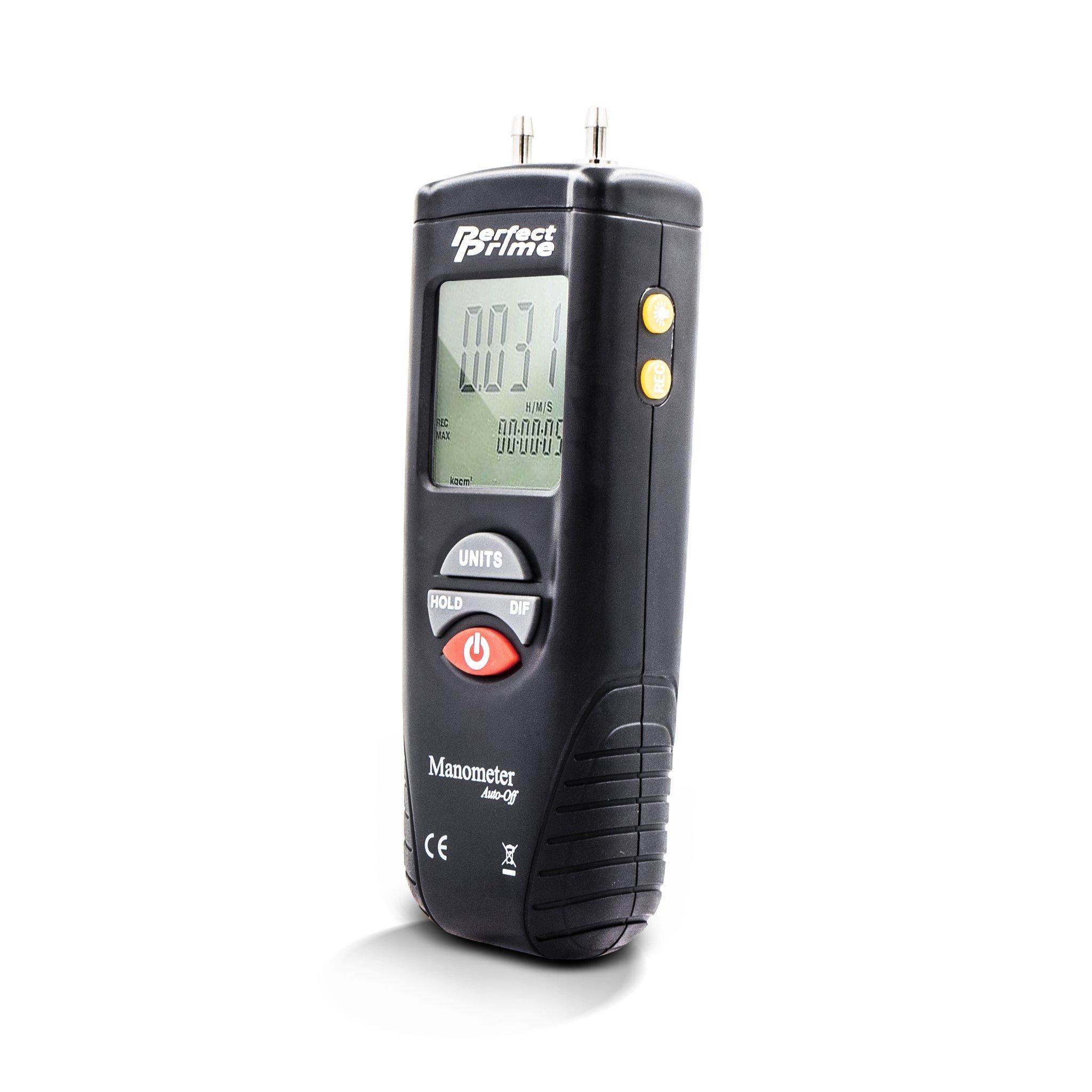 Perfect-Prime AR1890 Professional Digital Air Pressure Meter & Manometer to Measure Gauge & Differential Pressure ±13.79kPa / ±2 psi / ±55.4 H2O