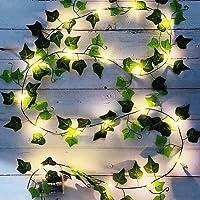 Vine String Lights, [1 Pack] Ivy Decor String Lights, Maple Leaf Garland Wreath Hanging lamp with 20 LED, Fairy Night…