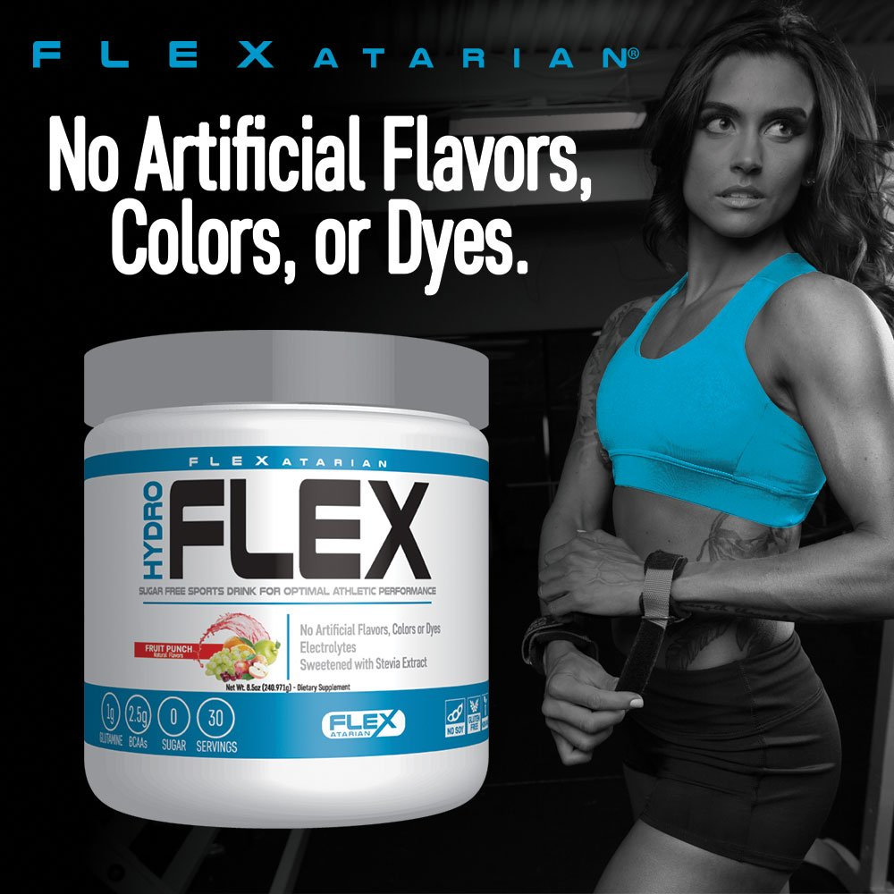 Flexatarian Hydro Flex, Natural Hydration Powder with BCAAs, Fruit Punch, 30 Servings by Flexatarian (Image #4)