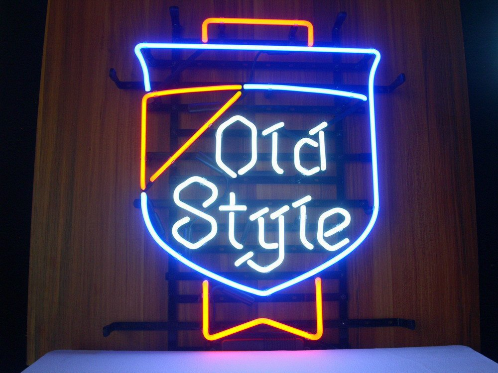 Old Style Beer Lager Neon Sign Display Store Beer Bar Pub Garage Man Cave Home Light Sign 17''x 14''