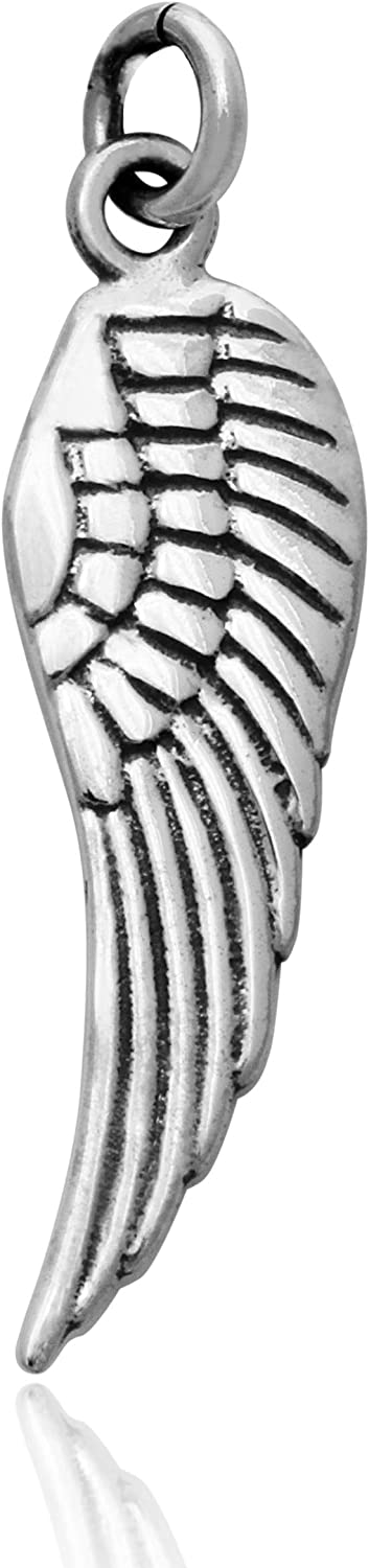 SALE  Thai 925 Silver Openwork Angel Wing 27 x 8mm 2 pcs Sterling Silver Angel Wing Charm