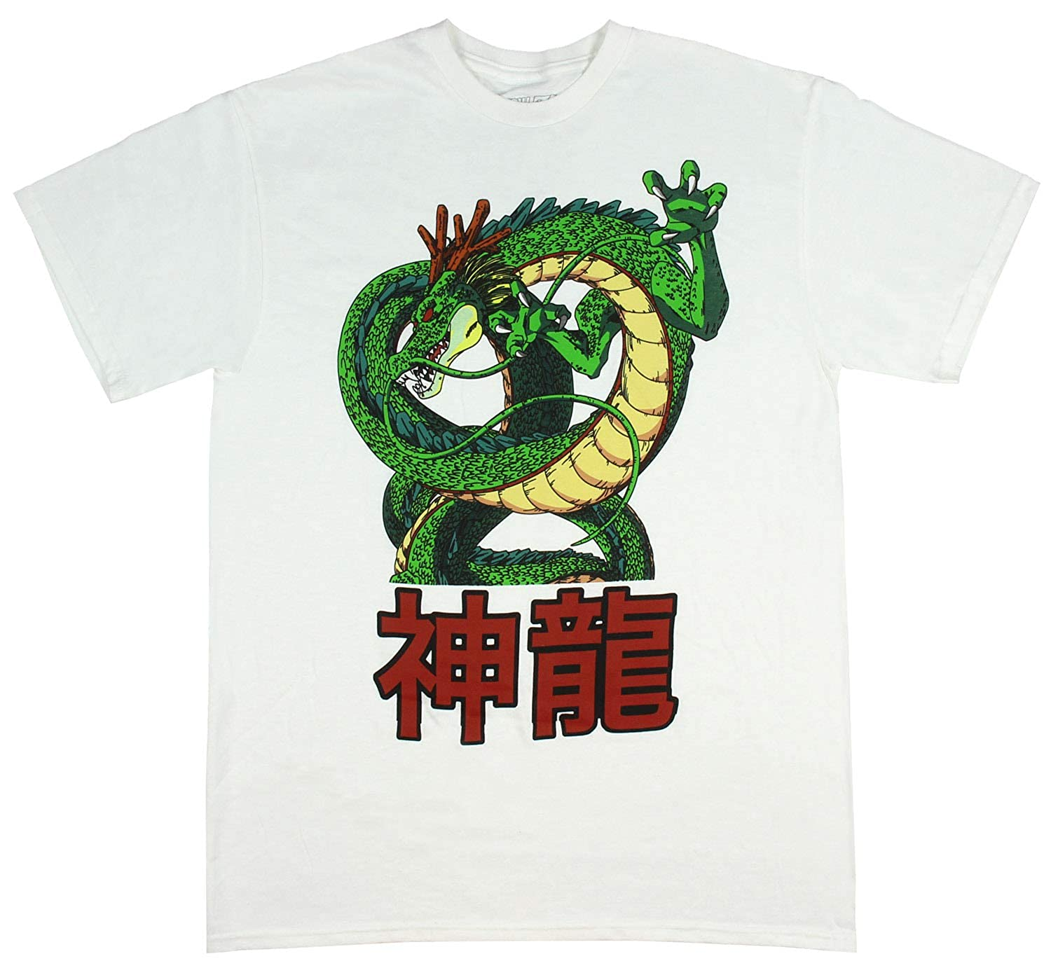 3ce2ae97a Amazon.com: Dragon Ball Z Men's Shenron The Eternal Dragon Graphic Licensed  T-Shirt (X-Large) White: Clothing