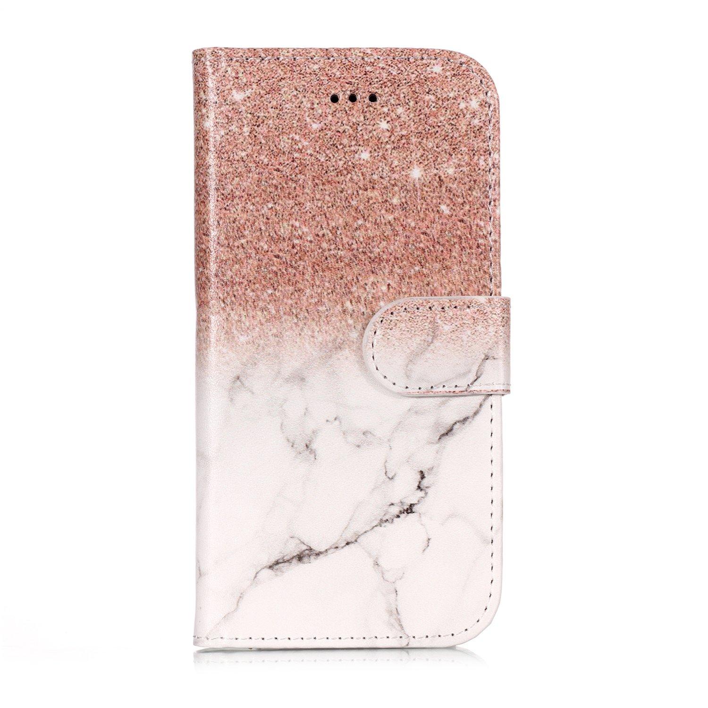 Samsung Galaxy A3 2017 Handy H/ülle Leder Tasche Schwarz Flip Schutzh/ülle Wallet Case Tasche H/ülle f/ür Samsung Galaxy A3 2017 Stand Kartenf/ächer Blumenkopf Huphant Samsung A3 2017 H/ülle