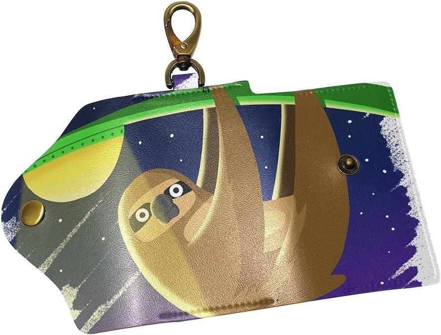 DEYYA Tiger Leather Key Case Wallets Unisex Keychain Key Holder with 6 Hooks Snap Closure