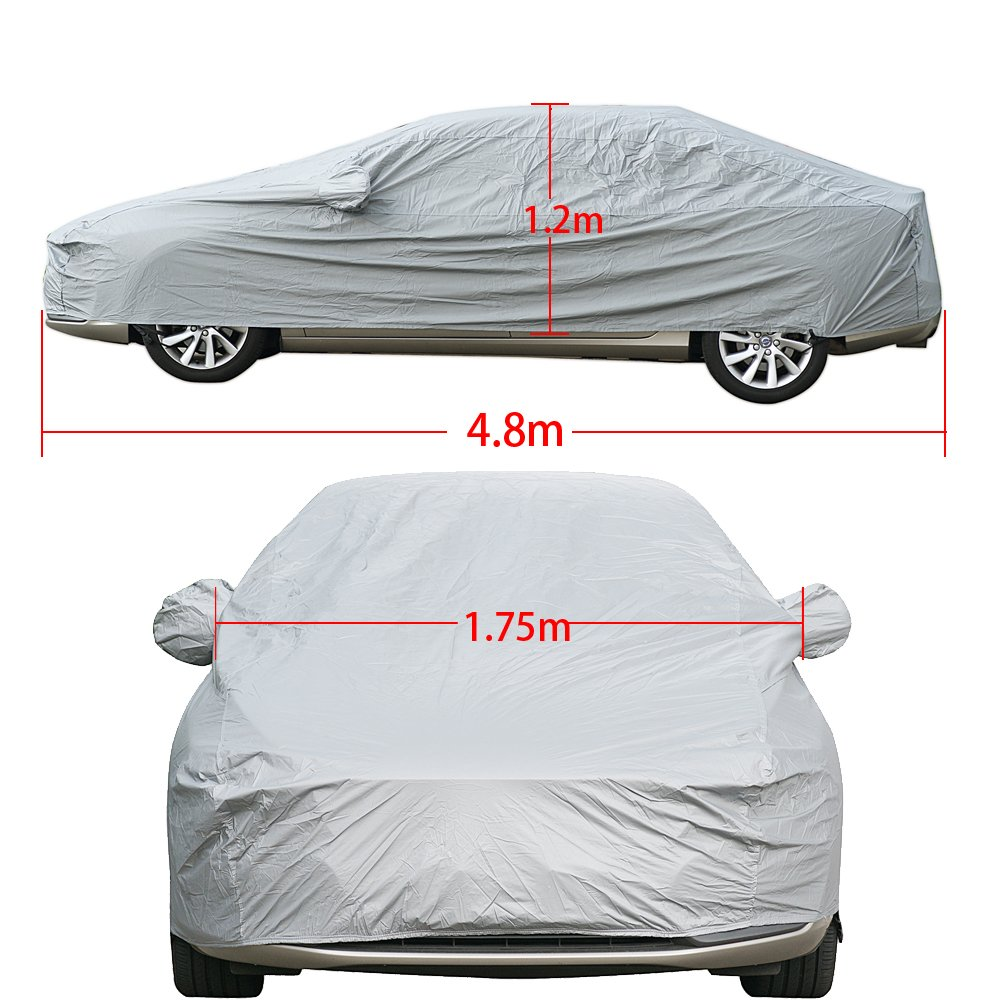 5 Layer Car Cover Soft Breathable Dust Proof Sun Uv Water Indoor Outdoor 5259