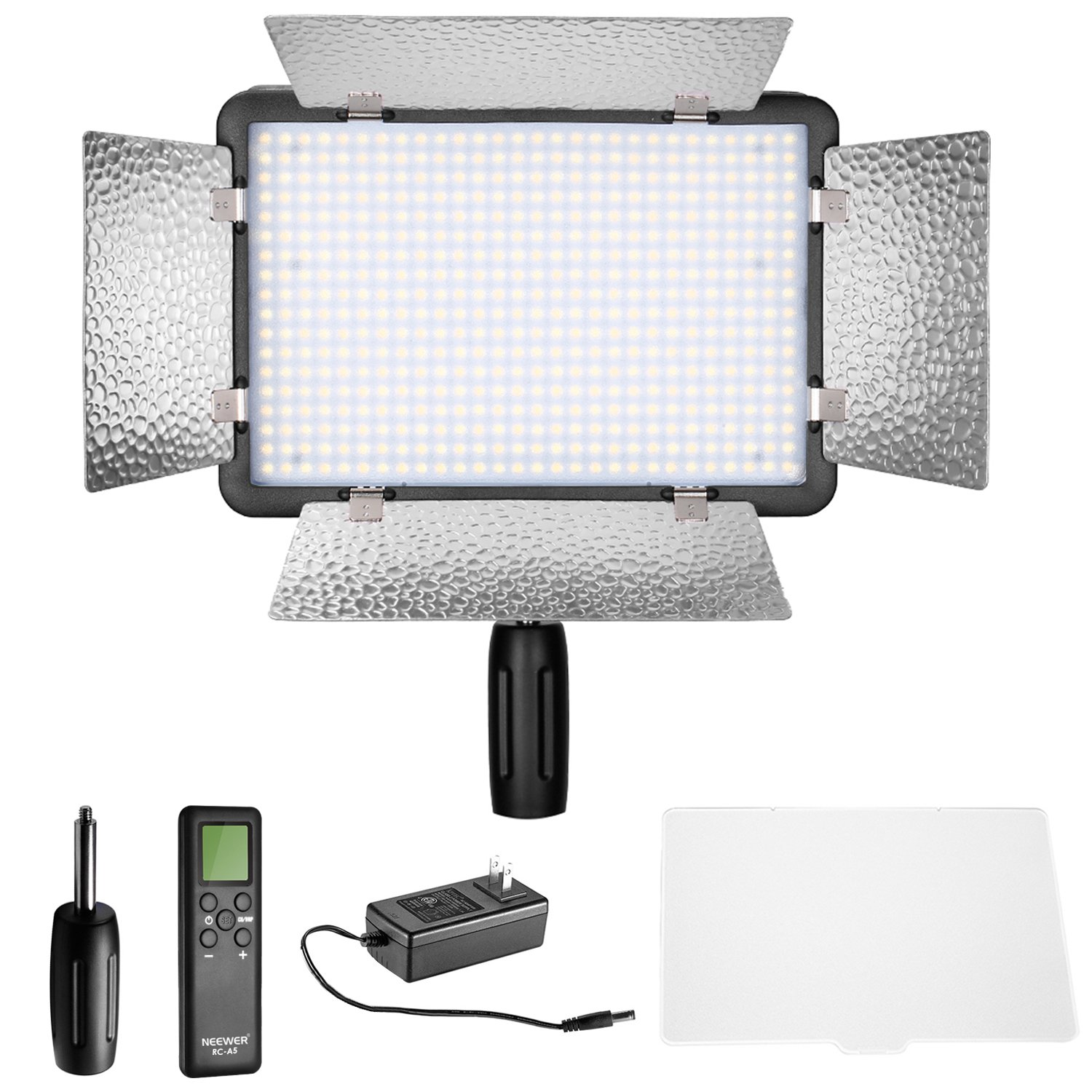 Neewer LED 500 Ultra High Power Dimmable Video Light with Built-in LCD Panel with Remote Control for Canon, Nikon, Pentax, Panasonic, Sony, Samsung, Olympus and Other Digital DSLR Cameras by Neewer