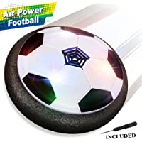 Baztoy JT811 Kids Toys Air Power Soccer Ball Games with Soft Foam Bumpers and Colorful LED Lights - Black