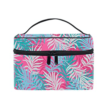 40bed2cf0636 Amazon.com : Large Travel Makeup Bag Organizer - Cosmetic Train Case ...