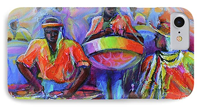 amazon com iphone 8 slim case steel pan carnival by pixels